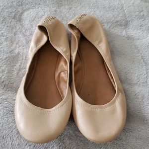 Lucky Brand Pink Leather Ballet Flats